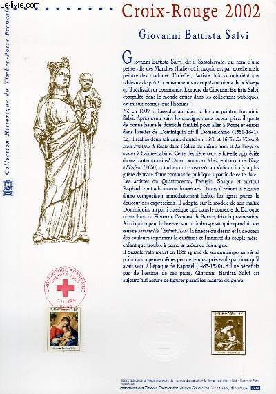 DOCUMENT PHILATELIQUE OFFICIEL - CROIX ROUGE 2002 - GIOVANNI BATTISTA SALVI (N°3531 YVERT ET TELLIER)