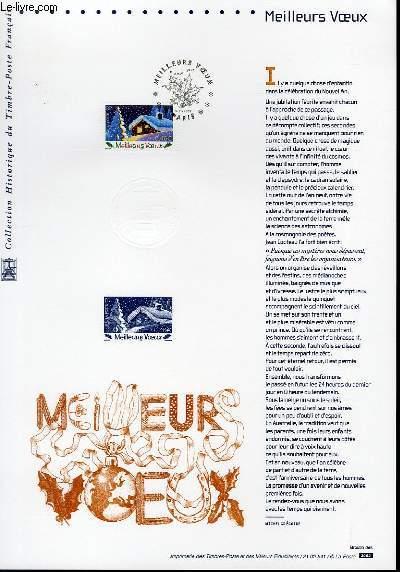DOCUMENT PHILATELIQUE OFFICIEL - MEILLEURS VOEUX (N°3533 YVERT ET TELLIER)