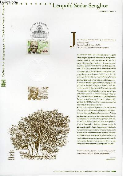 DOCUMENT PHILATELIQUE OFFICIEL - LEOPOLD SEDAR SENGHOR 1906-2001 (N°3537 YVERT ET TELLIER)