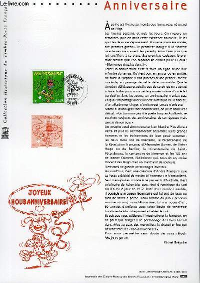 DOCUMENT PHILATELIQUE OFFICIEL - ANNIVERSAIRE (N°3569 YVERT ET TELLIER)