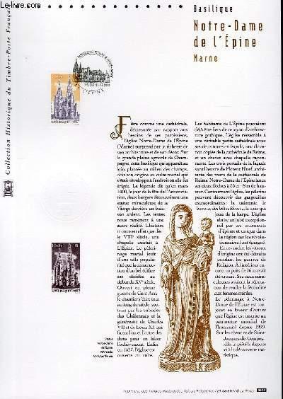 DOCUMENT PHILATELIQUE OFFICIEL - BASILIQUE NOTRE DAME DE L'EPINE - MARNE (N°3579 YVERT ET TELLIER)