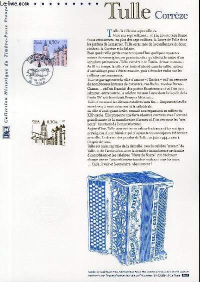 DOCUMENT PHILATELIQUE OFFICIEL - TULLE CORREZE (N°3580 YVERT ET TELLIER)