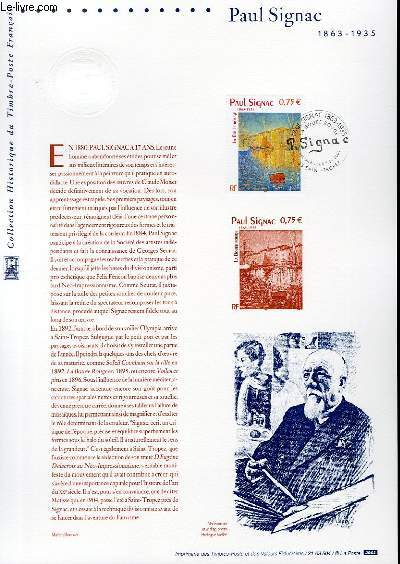 DOCUMENT PHILATELIQUE OFFICIEL - PAUL SIGNAC 1863-1935 (N°3584 YVERT ET TELLIER)
