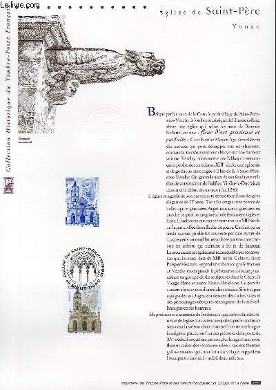 DOCUMENT PHILATELIQUE OFFICIEL - EGLISE DE SAINT-PERE - YVONNE (N°3586 YVERT ET TELLIER)