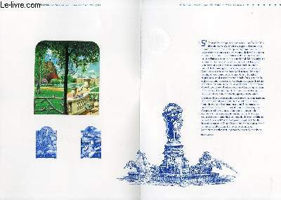 DOCUMENT PHILATELIQUE OFFICIEL -  LE SALON DU TIMBRE 2004 - JARDIN DE FRANCE (N°3606-3607 YVERT ET TELLIER)