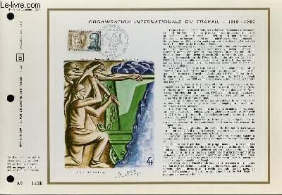 FEUILLET ARTISTIQUE PHILATELIQUE - CEF - N° 98 - ORGANISATION INTERNATIONALE DU TRAVAIL 1919 - 1969