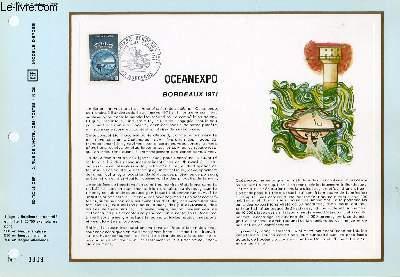 FEUILLET ARTISTIQUE PHILATELIQUE - CEF - N� 162 - OCEANEXPO - BORDEAUX 1971