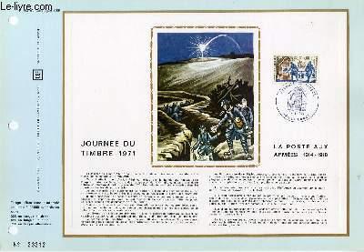 FEUILLET ARTISTIQUE PHILATELIQUE - CEF - N° 163 - JOURNEE DU TIMBRE 1971 - LA POSTE AUX ARMEES 1914-1918