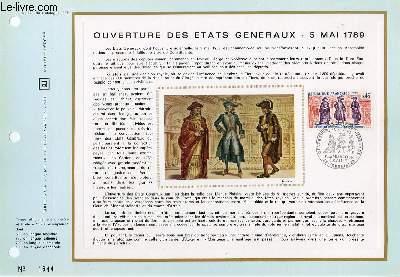FEUILLET ARTISTIQUE PHILATELIQUE - CEF - N° 170 - OUVERTURE DES ETATS GENERAUX - 5 MAI 1789