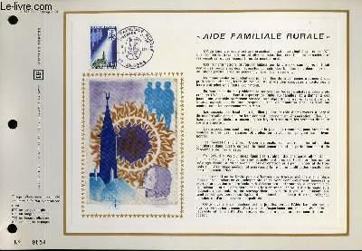 FEUILLET ARTISTIQUE PHILATELIQUE - CEF - N° 173 - AIDE FAMILIALE RURALE