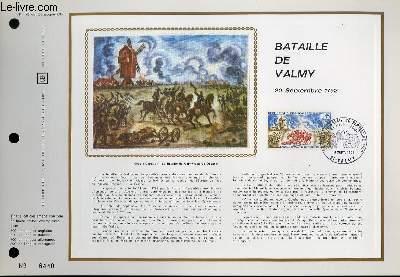 FEUILLET ARTISTIQUE PHILATELIQUE - CEF - N° 178 - BATAILLE DE VALMY - 20 SEPTEMBRE 1792