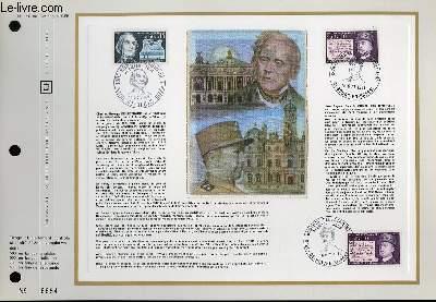 FEUILLET ARTISTIQUE PHILATELIQUE - CEF - N° 180 - CHARLES GEROGES DELESTRAINT - JEAN EUGENE ROBERT HOUDIN