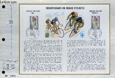 FEUILLET ARTISTIQUE PHILATELIQUE - CEF - N° 209 (Série A) - CHAMPIONNATS DU MONDE CYCLISTE