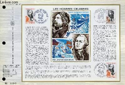 FEUILLET ARTISTIQUE PHILATELIQUE - CEF - N° 212 - LES HOMMES CELEBRES