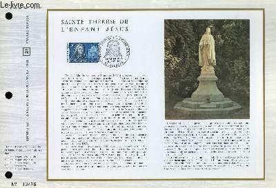 FEUILLET ARTISTIQUE PHILATELIQUE - CEF - N° 220 - SAINTE THERESE DE L'ENFANT JESUS