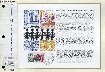 FEUILLET ARTISTIQUE PHILATELIQUE - CEF - N° 222 - 1921 IMMIGRATION POLONAISE 1923