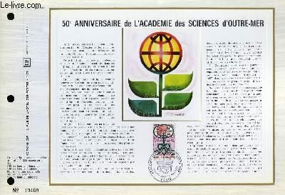 FEUILLET ARTISTIQUE PHILATELIQUE - CEF - N° 237 - 50° ANNIVERSAIRE DE L'ACADEMIE DES SCIENCES D'OUTRE-MER