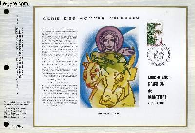 FEUILLET ARTISTIQUE PHILATELIQUE - CEF - N° 263 - SERIE DES HOMMES CELEBRES