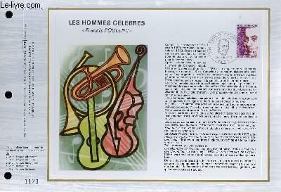 FEUILLET ARTISTIQUE PHILATELIQUE - CEF - N° 282 - LES HOMMES CELEBRES - FRANCIS POULENC