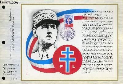 FEUILLET ARTISTIQUE PHILATELIQUE - CEF - N° 355 - 30° ANNIERSAIRE DE L'ASSOCIATION DES FRANCAIS LIBRES