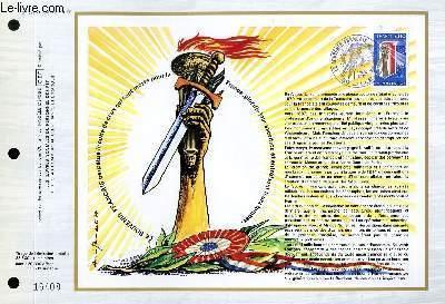 FEUILLET ARTISTIQUE PHILATELIQUE - CEF - N° 397 - LE SOUVENIR FRANCAIS PERPETUE LE CULTE DE CEUX QUI SONT MORTS POUR LA FRANCE, GLORIFIR LEUR SACRIFICE ET ENTRETIENT LEURS TOMBES
