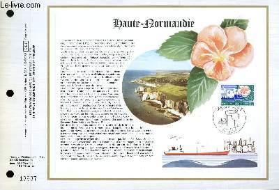 FEUILLET ARTISTIQUE PHILATELIQUE - CEF - N° 438 - HAUTE NORMANDIE