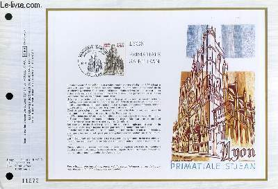 FEUILLET ARTISTIQUE PHILATELIQUE - CEF - N� 586 - LYON PRIMATIALE SAINT JEAN