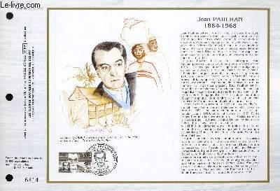 FEUILLET ARTISTIQUE PHILATELIQUE - CEF - N� 747 - JEAN PAULHAN 1884-1968