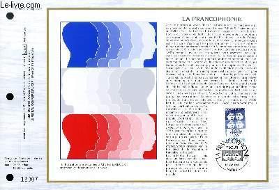 FEUILLET ARTISTIQUE PHILATELIQUE - CEF - N° 755 - LA FRANCOPHONIE