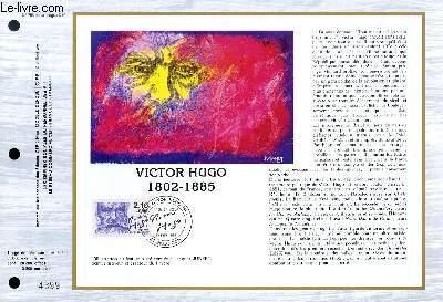 FEUILLET ARTISTIQUE PHILATELIQUE - CEF - N° 758 - VICTOR HUGO - 1802-1985
