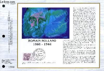 FEUILLET ARTISTIQUE PHILATELIQUE - CEF - N° 760 - ROMAIN ROLLAND 1866 - 1944