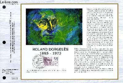 FEUILLET ARTISTIQUE PHILATELIQUE - CEF - N° 762 - ROLAND DORGELES 1885-1973
