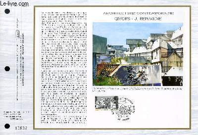 FEUILLET ARTISTIQUE PHILATELIQUE - CEF - N° 769 - ARCHITECTURE CONTEMPORAINE - GIVORS - J. RENAUDIE