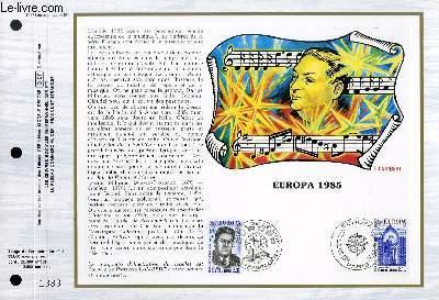 FEUILLET ARTISTIQUE PHILATELIQUE - CEF - N° 771 - EUROPA 1985