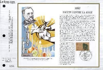 FEUILLET ARTISTIQUE PHILATELIQUE - CEF - N° 775 - 1885 - VACCIN CONTRE LA RAGE