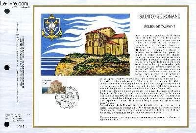 FEUILLET ARTISTIQUE PHILATELIQUE - CEF - N� 777 SAINTONGE ROMANE - EGLISE DE TALMONT