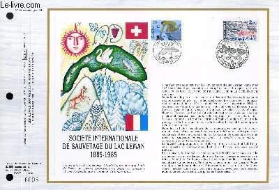 FEUILLET ARTISTIQUE PHILATELIQUE - CEF - N° 778 - SOCIETE INTERNATIONALE DE SAUVETAGE DU LAC LEMAN 1885-19985