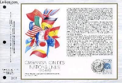 FEUILLET ARTISTIQUE PHILATELIQUE - CEF - N� 779 - ORGANISATION DES NATIONS UNIES