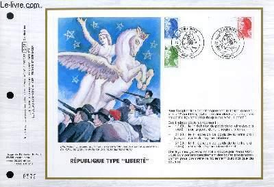 FEUILLET ARTISTIQUE PHILATELIQUE - CEF - N° 781 - REPUBLIQUE TYPE