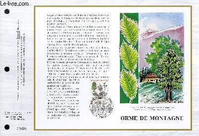 FEUILLET ARTISTIQUE PHILATELIQUE - CEF - N° 786 - ORME DE MONTAGNE
