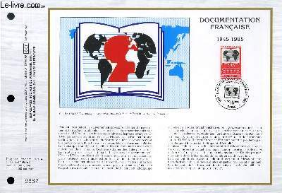 FEUILLET ARTISTIQUE PHILATELIQUE - CEF - N° 794 - DOCUMENTATION FRANCAISE 1945 - 1985
