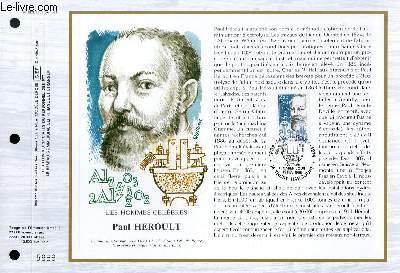 FEUILLET ARTISTIQUE PHILATELIQUE - CEF - N° 803 - LES HOMMES CELEBRES : PAUL HEROULT
