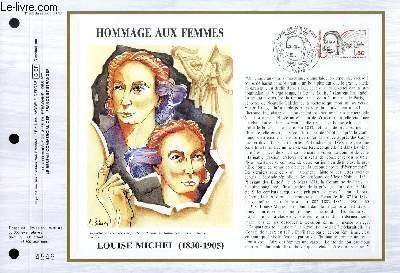 FEUILLET ARTISTIQUE PHILATELIQUE - CEF - N° 808 - HOMMAGE AUX FEMMES : LOUISE MICHEL (1830-1905)