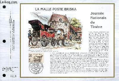 FEUILLET ARTISTIQUE PHILATELIQUE - CEF - N° 810 - LA MALLE-POSTE BRISKA - JOURNEE NATIONAL DU TIMBRE