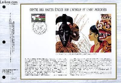 FEUILLET ARTISTIQUE PHILATELIQUE - CEF - N° 811 - CENTRE DES HAUTES ETUDES SUR L'AFRIQUE ET L'ASIE MODERNES