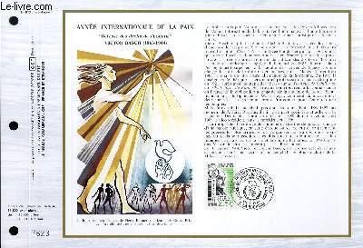 FEUILLET ARTISTIQUE PHILATELIQUE - CEF - N° 813 - ANNEE INTERNATIONALE DE LA PAIX - DEFENSE DES DROITS DE L'HOMME