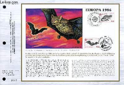 FEUILLET ARTISTIQUE PHILATELIQUE - CEF - N° 814 - EUROPA 1986