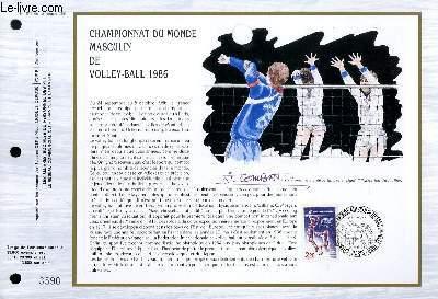 FEUILLET ARTISTIQUE PHILATELIQUE - CEF - N° 818 - CHAMPIONNAT DU MONDE MASCULIN DE VOLLEY-BALL 1986