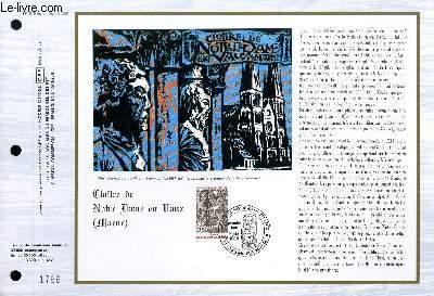 FEUILLET ARTISTIQUE PHILATELIQUE - CEF - N° 819 - CLOITRE DE NTORE DAME EN VAUX (MARNE)