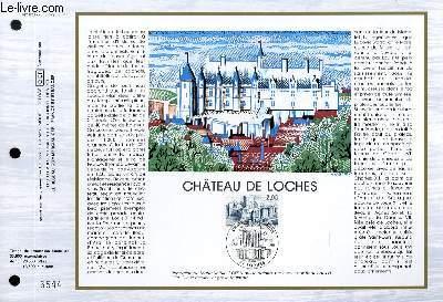 FEUILLET ARTISTIQUE PHILATELIQUE - CEF - N° 820 - CHATEAU DE LOCHES